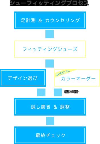 シューフィッティングプロセス